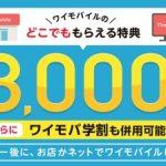 ワイモバイル、エントリーでPayPayボーナスライト3,000円相当が貰えるキャンペーン